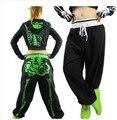 Women  Hip Hop Dance Jazz Costume Skeleton Pants Female Trousers