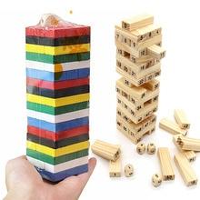 54 шт./компл. Деревянная башня строительные блоки игрушка радуга домино укладчик настольная игра складывается высокий Монтессори Развивающие детские игрушки