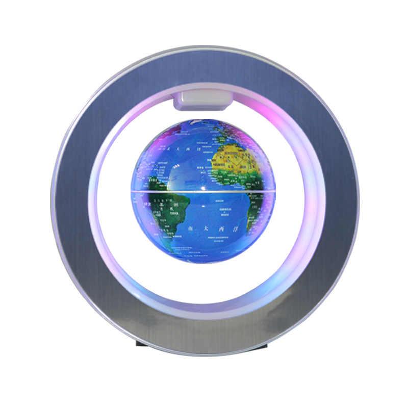 Магнитной левитации Новинка Круглый светодиодный карта мира-Глобус лампа световой вращения дисплей антигравитация MagicDec плазменный шар свет