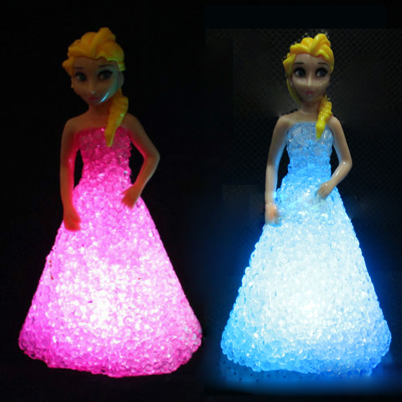 Girl Gift Led Night Lights Kids Toy Frozen Gradient