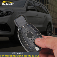 Gelinsi For Mercedes Benz GLE ML GL GLS Car Key Case Cover Protector Carbon Fiber Cover High Quality