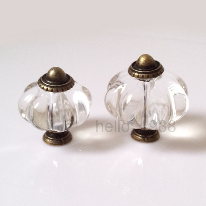 clear acrylic pumpkin cabinet knob cupboard dresser closet knob kitchen furniture hardware drawer pulls knob handle cheap acrylic furniture