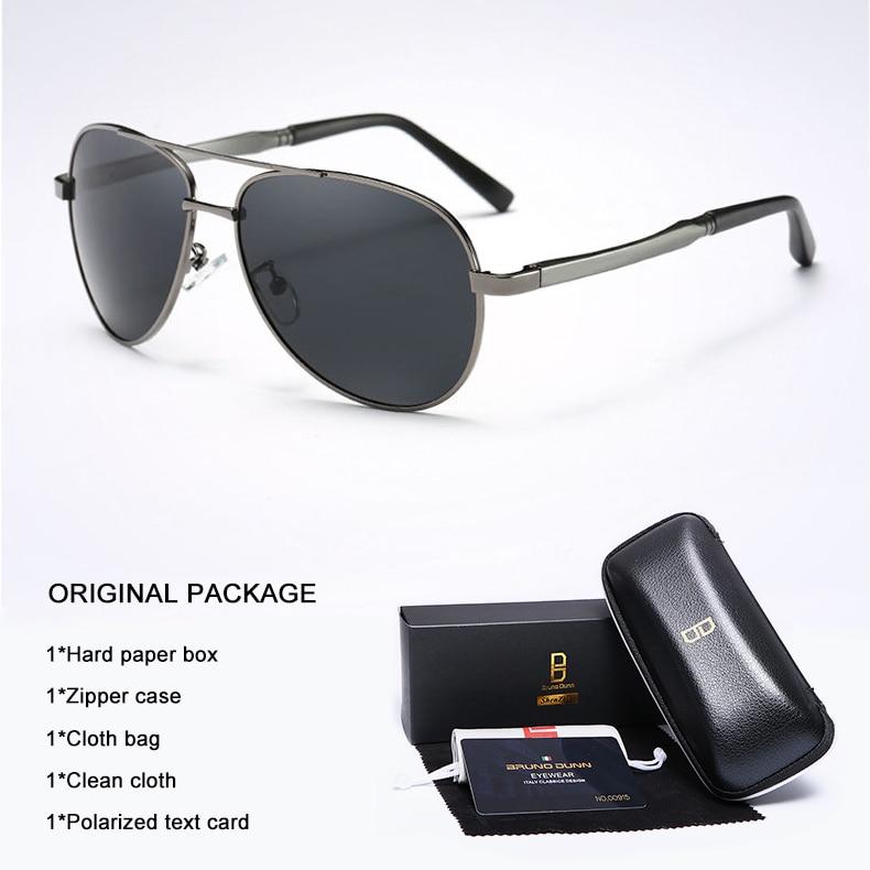 Bruno Dunn 2020 Aviation Men Sunglasses Polarized Sun Glases oculos de sol masculino aviador UV400 high quality  Sunglases 11