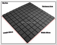 Brand New Black Color Big Size 4pcs 100 100CM Studio Sound Absorption Panel Soundproof Foam Acoustic
