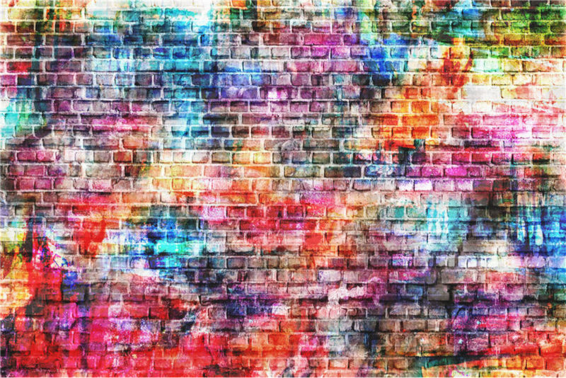 Photography Backdrops Photo Studio Props Colorful Brick Walls Vinyl Background for Baby 7x5ft or 5x3ft JIEJP100 sjoloon brick wall photo background photography backdrops fond children photo vinyl achtergronden voor photo studio props 8x8ft