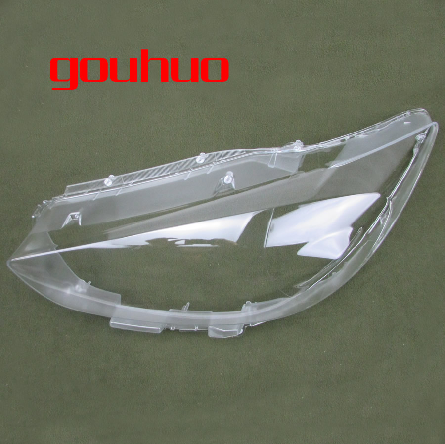 все цены на for Mazda CX-5 13-15 lamp shell headlight cover glass lampshade case transparent shade headlamp lens mask 2pcs онлайн