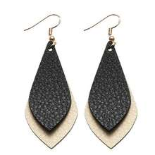 ZWPON 2018 New Layered Flat Leather Earrings for Women Bohemian Vintage Teardrop Dangle Earrings Fashion Jewelry Personalized(China)