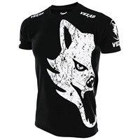 MMA אגרוף תאילנדי גופיות VSZAP קלאסיים ענק החולצה mma rashguard חולצה זאב ענק חולצה רוח לחימה גמישות כותנה