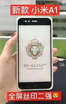 9H 0.26mm Full Glue Tempered Glass Screen Protector For Xiaomi Mi A1 Full Cover Anti-scratch Film For Xiaomi Mi A1