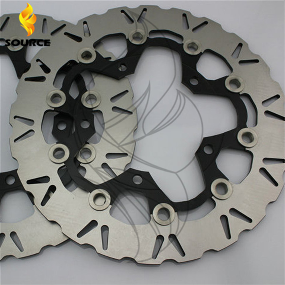 motorcycle Aluminum alloy  & Stainless steel Front Brake Disc Rotor For SUZUKI VZR1800 2007 2008 2009 vegas душевая дверь vegas ep 75 профиль матовый хром стекло фибоначчи