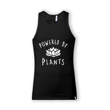 "Unisex ""Powered by Plants"" Tank Tops"