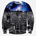 Best 2016 New fashion Man/women's sweatshirts 3d print person see meteor casual galaxy thrasher hoodies men trasher tracksuit