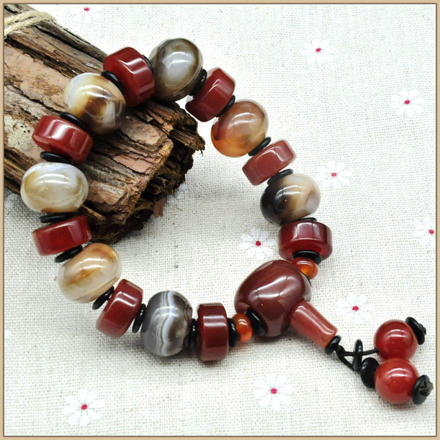 Yumten Fine Bracelets For Women And Men Christma Agate Bracelet Natural Stones Crystal Unisex Strand Bracelets Armbanden Fine