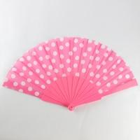 2017 Hot Selling Hand Held Fan Ladies Bamboo Folding Fan Gift Wedding Ladies Pink Print GYS909