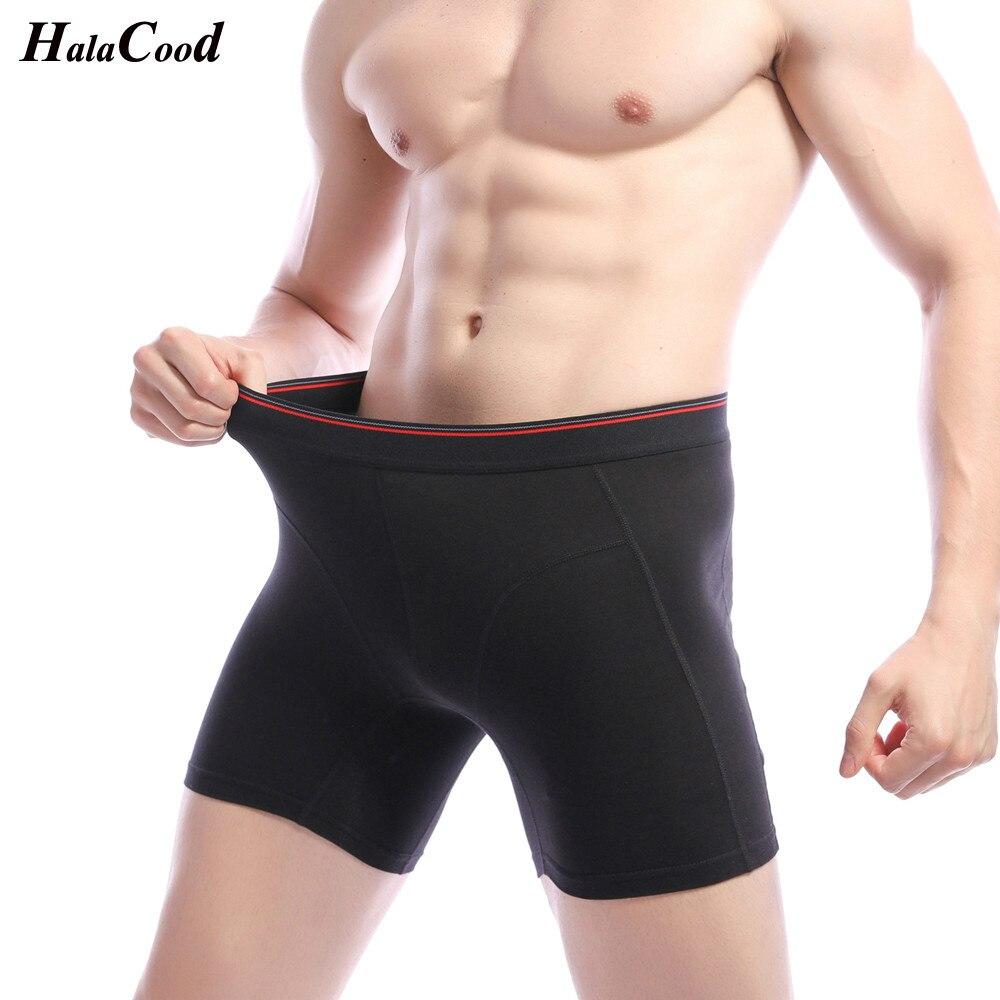 2019 Fashion Sexy Cotton New Men's Plus Long Underwear Boxers Shorts Men Boxer Homme Slip Panties Male Underpant Boxershorts Fat