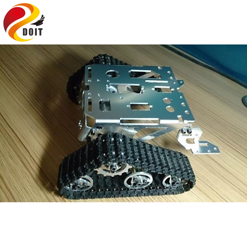 Original DOIT Metal Robot Tank Car Chassis Kit Crawler Tracked Vehicle Track Caterpillar Wali DIY RC Toy Experiment Platform doit ts100 metal shock absorber robot tank chassis tracked vehicle track car crawler caterpillar for arduino diy rc toy teach