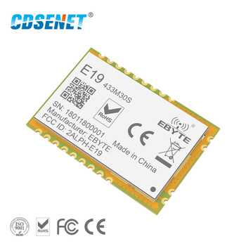 1pc SX1278 LoRa 433MHz rf Transceiver E19-433M30S Long Range CDSENET SPI SX1276 SMD Transmitter And Receiver rf Module 433 MHz e19 433m20s2 sx1278 lora 433mhz smd spi long range communicator radio 100mw stamp hole wireless transceiver module lora 433