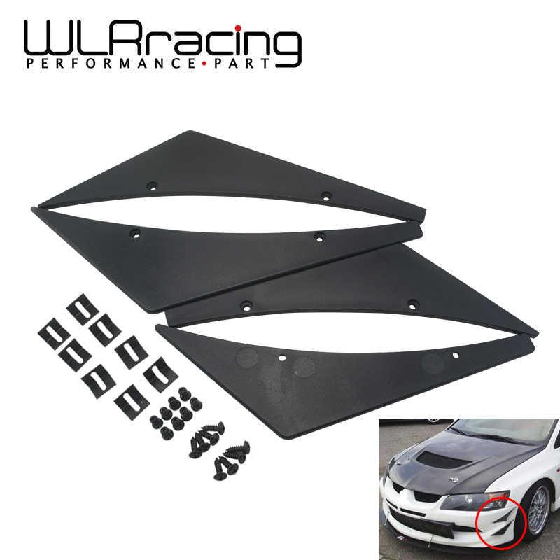 WLR レーシング-新ユニバーサルフィットフロントバンパーリップスプリッタフィンボディスポイラーカナード価あご WLR-BS21