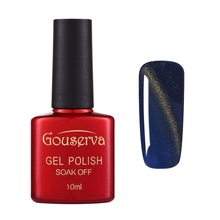 Gouserva 10ml UV Gel Nail Polish Nail Polish Long Lasting Magnetic Cat Eye Soak Off UV Gel Polish Glitter Varnish Gel Lucky