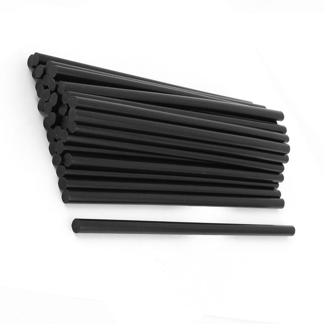 5PACK 35 Pcs 7mm Diameter 190mm Length Plastic Black Hot Melt Glue Stick 27cm hot melt glue stick translucent white 5 pcs