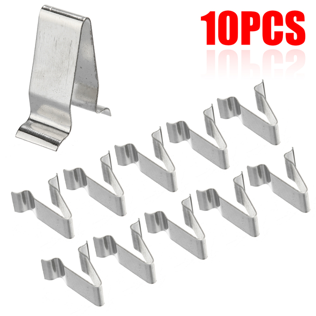 10pcs/set 22mm Metal Spring Trim Clip Car Retainer Rivet Fastener Clip For Audi Boot 4A0867276