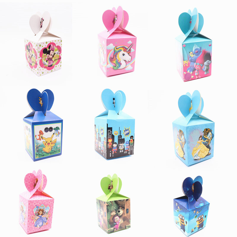 e32ec623be03 6Pcs Lot Hello Kitty Ladybug Mickey Mouse Candy Box Favor For Birthday Party  Decoration Kids Children Party Supplies Baby Shower-in Gift Bags   Wrapping  ...