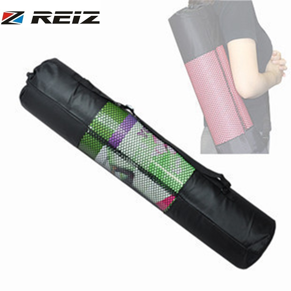 Able 60*20cm Nylon Strap Exercise Gym Fitness Pilates Yoga Mat Carring Bag Carrier Backpack Carriers Bag Portable Black Network Gym Ropa De Hombre