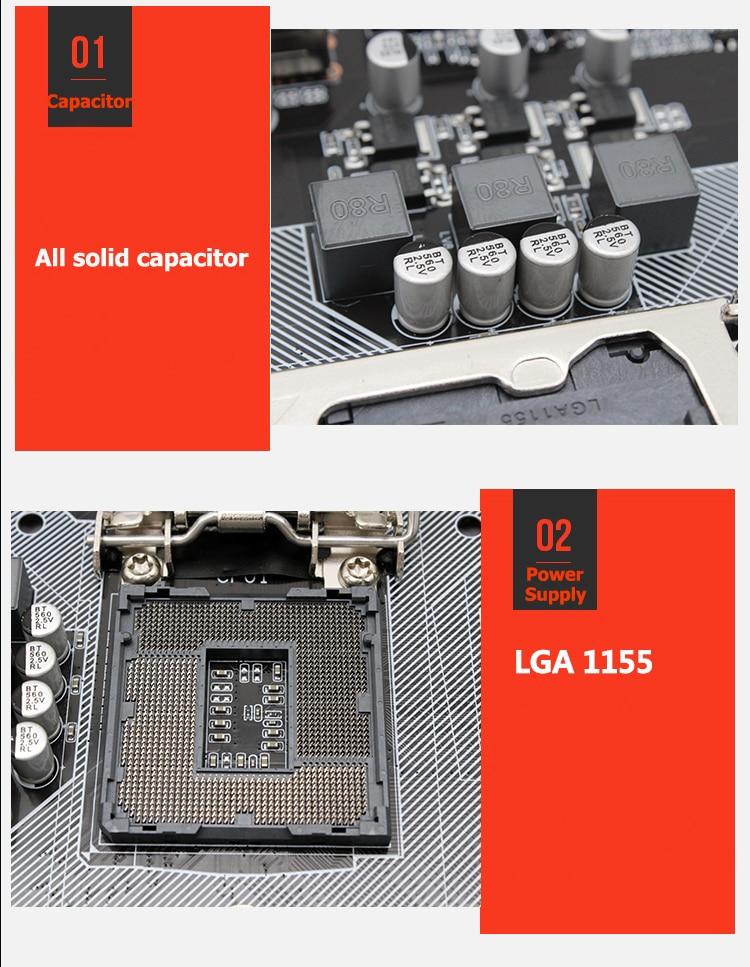 H61 H61M-S1 LGA 1155 desktop motherboard support socket LGA1155 DDR3 Mico-ATX For Intel i3/i5/i7 Integrated Graphics Mainboard 4