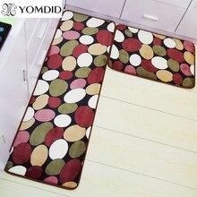 2 unids moderna cocina estera felpudo antideslizante alfombras de piso de la cocina baño balcón carpet conjunto de alfombras de baño de absorción de agua tapete