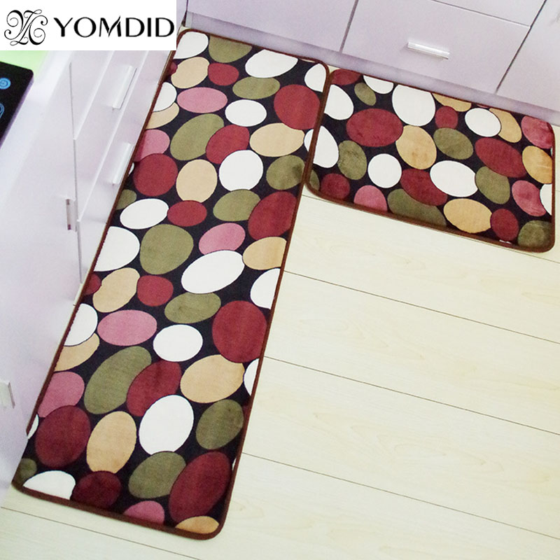 2pcs modern kitchen mat doormat anti slip floor kitchen rugs balcony bathroom carpet set bath - Kchen Tapeten Modern