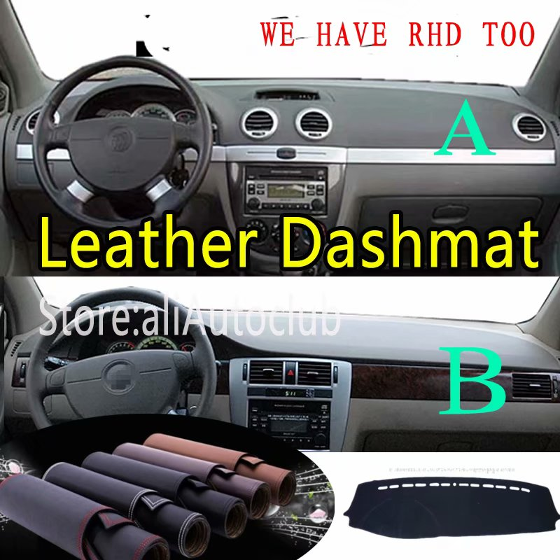 For Chevrolet Lacetti Optra Daewoo Nubira Gentra  Leather Dashmat Dashboard Cover Dash Mat Carpet Custom Car Styling LHD+RHD