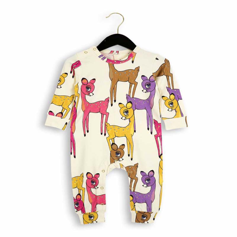 Newborn Infant Baby Rompers Organic Cotton Boys Girls Deers Print Tops Outfits Loog Sleeve Overall Cartoon Jumpsuits cotton baby rompers set newborn clothes baby clothing boys girls cartoon jumpsuits long sleeve overalls coveralls autumn winter