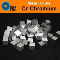 Cr Chromium Chrome Cube Bulk Block High Pure 99 94 10x10x10mm Square Cut 7 2g Metal