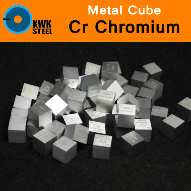 Cr Chromium Chrome Cube Bulk Block High Pure 99.94% 10x10x10mm Square Cut 7.2g Metal Elements for Research Study University штопор официанта с ножом iris i2344 cr chromium