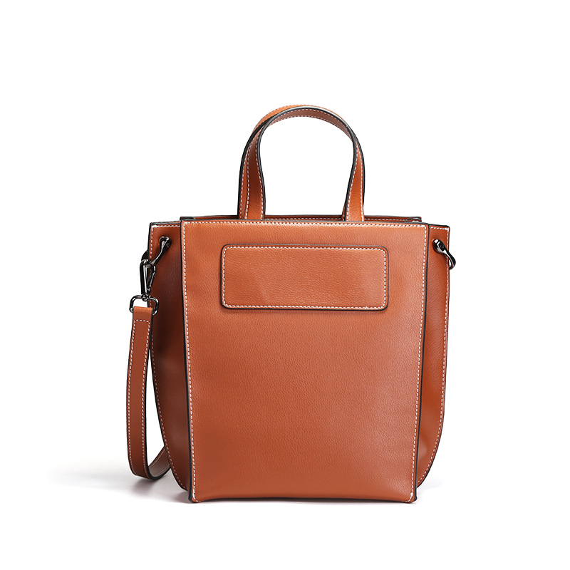2018 Luxury Genuine Leather Women Handbag Casual Women Bags Ladies Shoulder Tote Bag Fashion Design Office Ladies Messenger Bag 2017 luxury brand women handbag oil wax leather vintage casual tote large capacity shoulder bag big ladies messenger bag bolsa