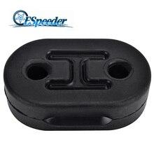 ESPEEDER Universal Car 2 Holes Exhaust Pipe Mount Brackets Hanger Insulator 10mm Holes Automobiles Accessories