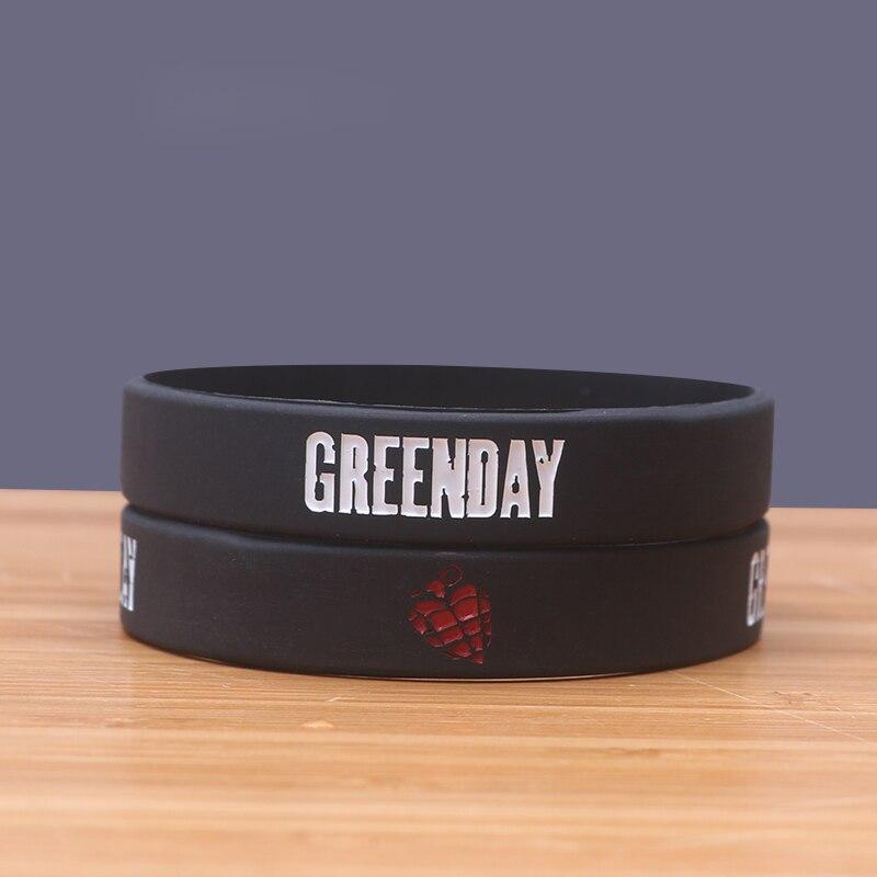 Green Day Band Silicone Bracelets Fashionable Silicon Bileklik Star Silicone Wristband Fashion Style Jerwerly