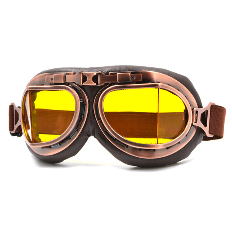 Motorcycle Riding Goggles Mask Retro Nostalgia Style Outdoor Sports Glasses Skiing Goggles Motorbike Protective Gears
