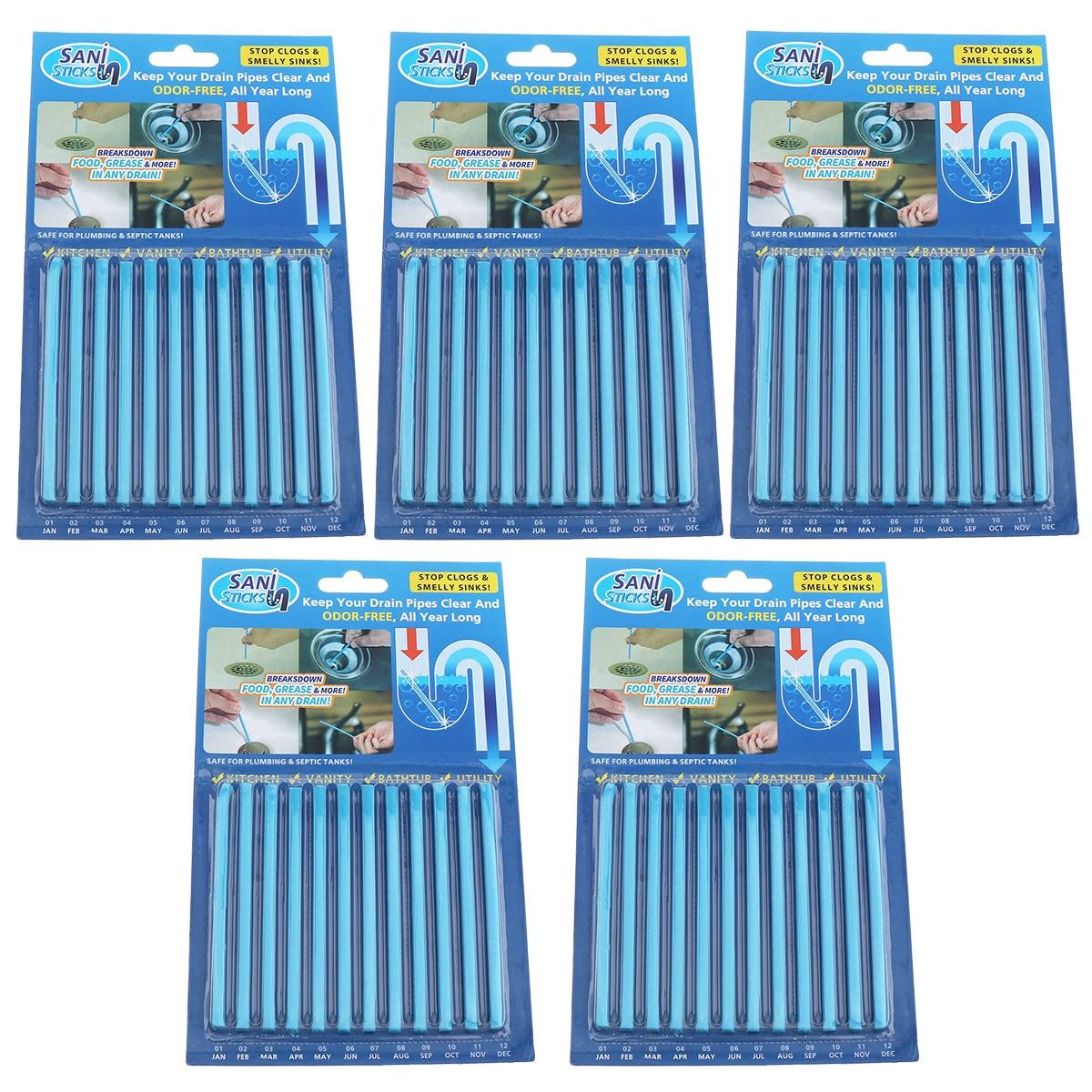 5 conjunto 60 pçs acessórios de cozinha pipeline banheira descontaminação dreno pia da cozinha filt sani varas de esgoto haste limpeza