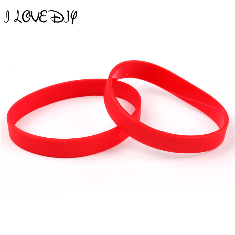 New 2pcs Orted Solid Colors Silicone Wristbands Wrist Bands Red Rubber Bracelets Many Color To Choose In Charm From Jewelry Accessories On