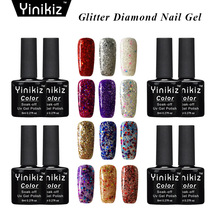 Yinikiz Shiny Diamond font b Nail b font Gel Polish Colorful font b Glitter b font