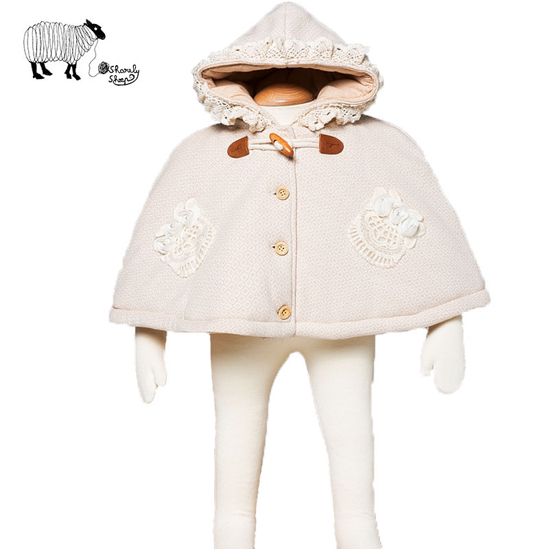 68846a742e18 Newborn Baby Girl Winter Organic Cotton Snow Warm Hooded Cloak Coat ...
