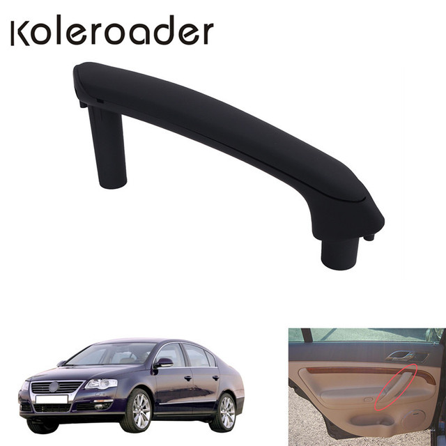 Rear Left Interior Door Pull Grab Handle With Trim Cover For VW Passat B5 1998-2005 //