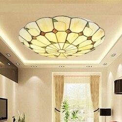 W stylu Vintage Retro śródziemnomorskiej lampy sufitowe AC110V-220V witraże przejściach i korytarzach Hotel restauracja LED balkon oświetlenie lampy