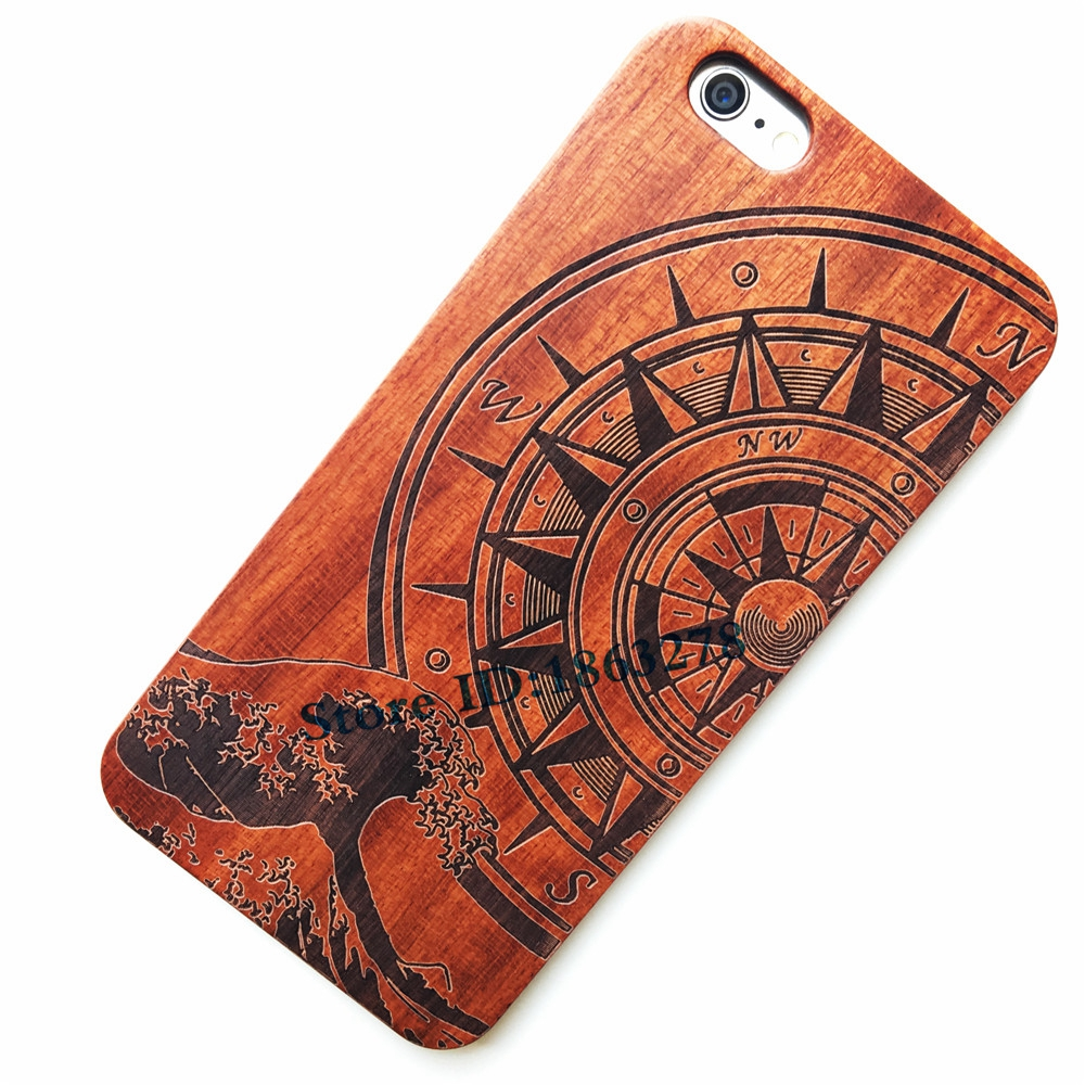 29 Style Compass Pirate Sea Wave Surf Wood Phone Case For Iphone 5