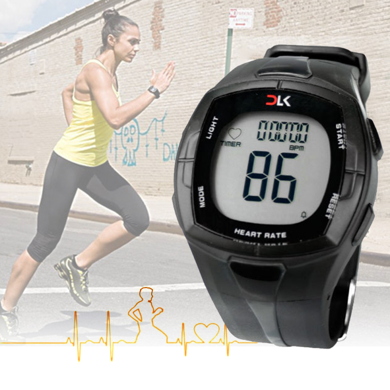 Wireless Heart Rate Monitor Watches Chest Strap Calorie Counter Watches Watch For Bike Cycling Sports Wireless smart watch multifunction pulse heart rate calorie wrist watch silver black