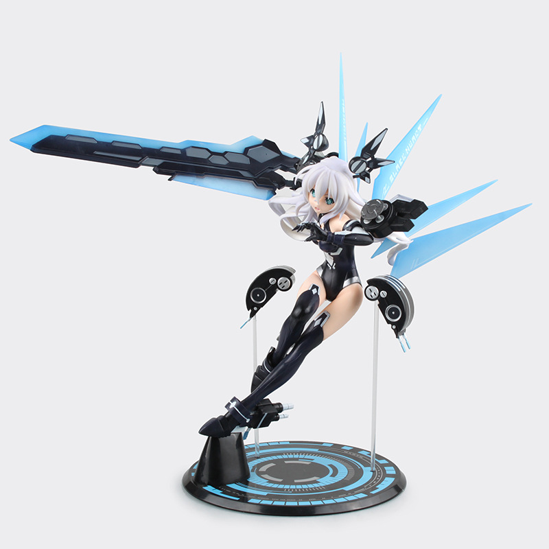 31CM Neptune Noire Black Heart Action Figure Classic Collection PVC Animation Fright Girl Model Figures Toy Gifts Boxed SS0032 one piese action figure 28cm dracula mihawk arrogant expression model pvc figures collection toy for children