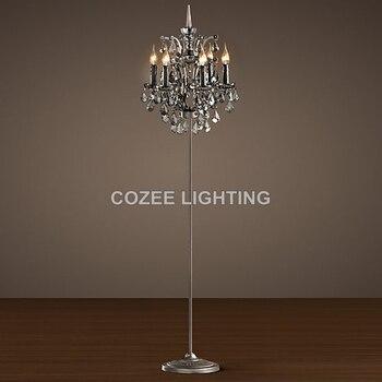 Винтажный торшер с кристаллами, стоящая свеча, хрустальный пол, освещение в помещении, домашний ресторан, гостиная и столовая