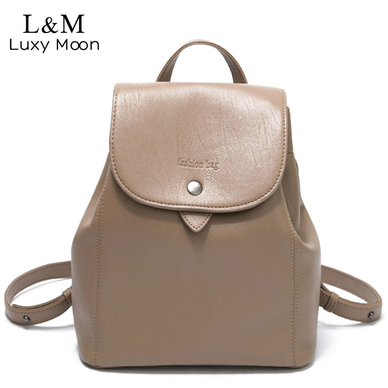 Women Vintage Backpack Bags 2018 Fashion Letter Travel Bag PU Leather Backpack Female For Teenage Girls Soft Backpacks XA1166H 2016 fashion women waterproof pu leather rivet backpack women s backpacks for teenage girls ladies bags with zippers black bags