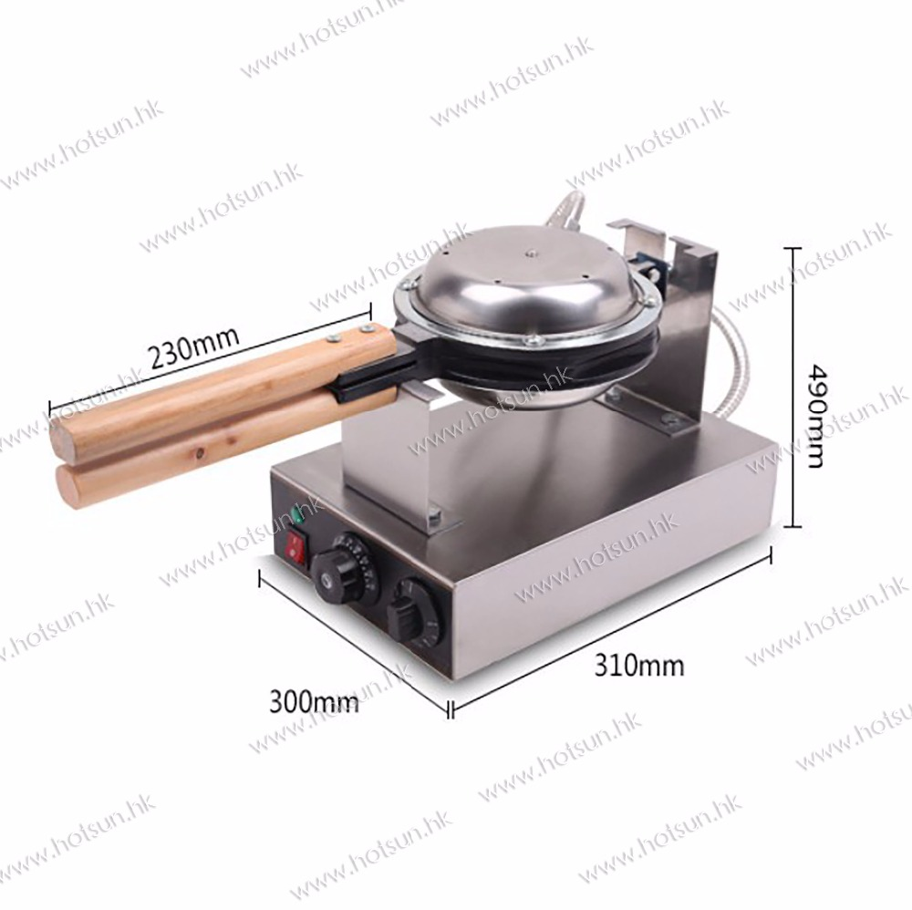 Commercial Non-stick 110V 220V Electric Eggettes Egg Waffle Maker Baker Machine Iron Mold Plate commercial use non stick 110v 220v electric japanese tokoyaki octopus fish ball iron maker baker machine page 4